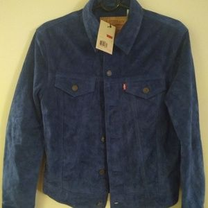 Levi's Blue Suede Trucker Jacket Size Small